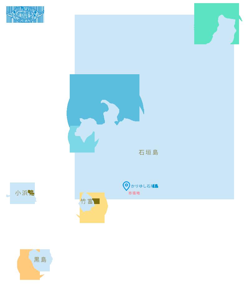 石垣島周辺ダイビングポイントマップ